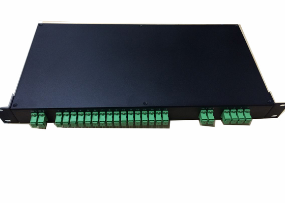 Rack Mounted Odf Fiber Optic Terminal Box With 2x 16 Fiber Optic Plc Splitter